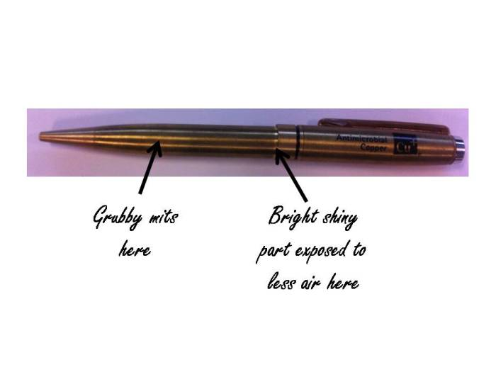 copper pen annotated