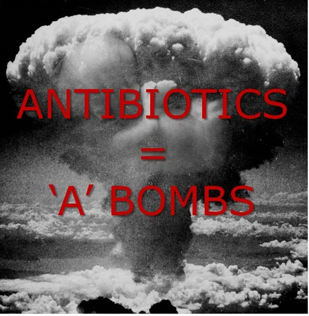 Atomic antibiotics